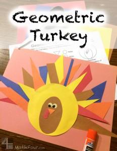 Geometric Turkey Math Craft