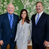 Source: Houston CultureMap, Terry Bradshaw, left, pictured with Hannah and Cal McNair