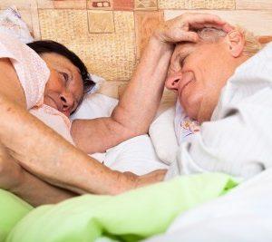 elder old older couple bed sleep asleep
