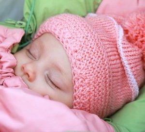 baby asleep bundled up