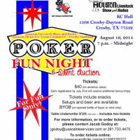 Enjoy Poker Night and Silent Auction with the Houston Rodeo!