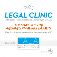TALA to Give Free Legal Advice to Houston Artists!